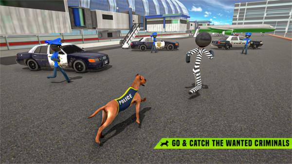 火柴人警犬追捕犯罪模拟器