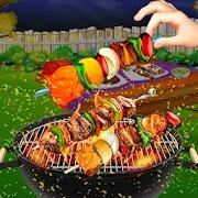 烧烤烧烤后院烹饪乐趣